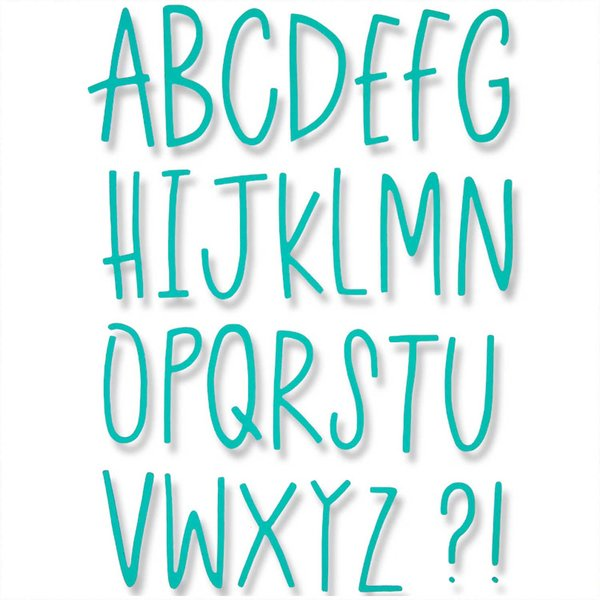 Sizzix Thinlits Die Set 28PK - Delicate Letters