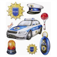 Hobby Fun XXL-Softy-Sticker Polizei