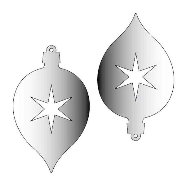 Rico Design Spiegel-Anhänger Zapfen rund silber 2 Stück
