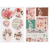Paper Poetry Vintage Sticker Rosen 13 Stück
