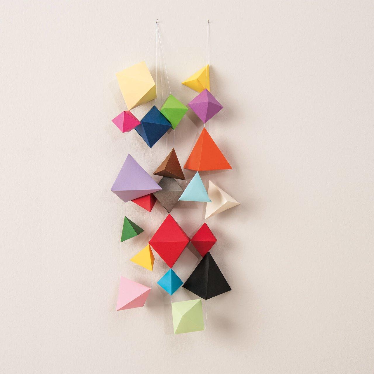 Anleitung Geometrische Origami Girlanden basteln