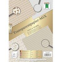 Nice Papers Transparentpapier Mix gold-silber A4 12 Blatt