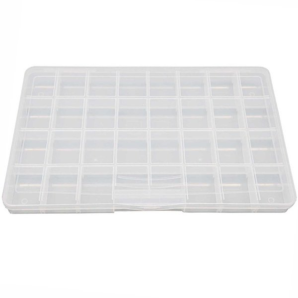 Rico Design Sortierbox mit 32 Fächern 35x22,6x3,6cm