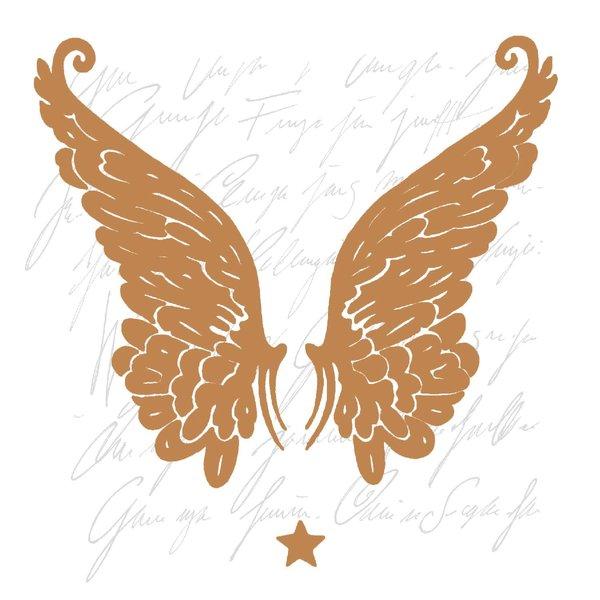 Ambiente Serviette Wings Copper 33x33cm 20 Stück