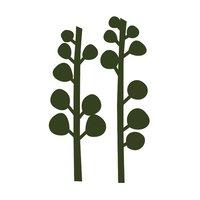 Rico Design Appliqué Zweige dunkelgrün 3x10,8cm 2 Stück