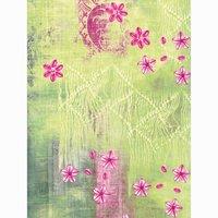 décopatch Papier Muster rosa-grün 3 Bogen