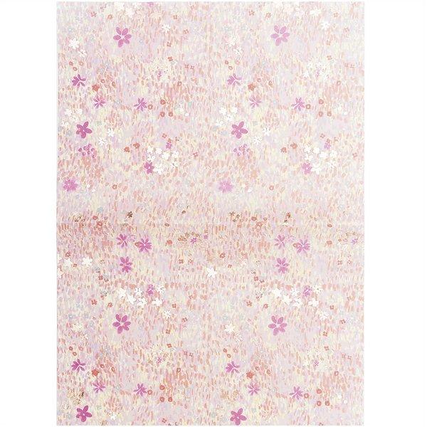 Paper Poetry Paper Patch Papier Blumenwiese rosa 30x42cm