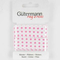 Gütermann Schrägband Sterne pink 20mm 3m