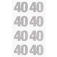 Paper Poetry Glittersticker 40 silber