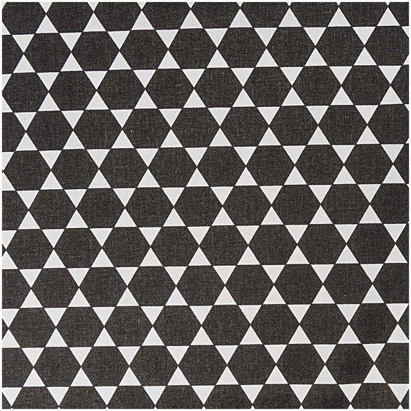 Rico Design Stoff Diamant schwarz 160cm
