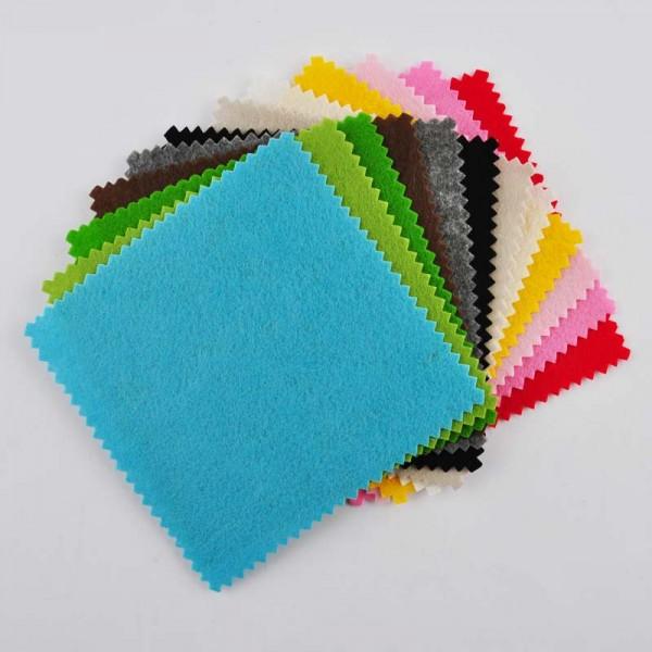 Rico Design Filzpaket uni 13,5x13,5cm 12 Farben