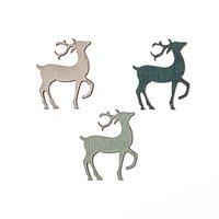 Hirschstreu dunkelgrün-mint-weiß 3cm 12 Stück
