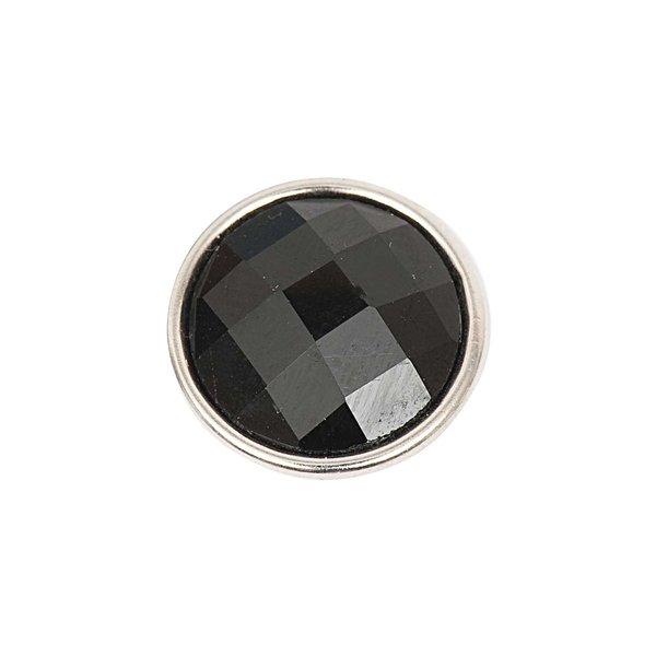 Rico Design Knopf Glas geschliffen schwarz 14mm
