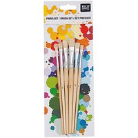 Rico Design Borstenpinsel flach 6er Set No. 2
