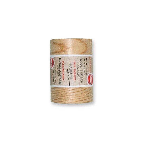 HALBACH Stoff Holzfurnier selbstklebend natur 10cm 2,5m