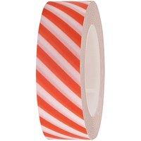 Rico Design Tape weiß-orange gestreift 15mm 10m