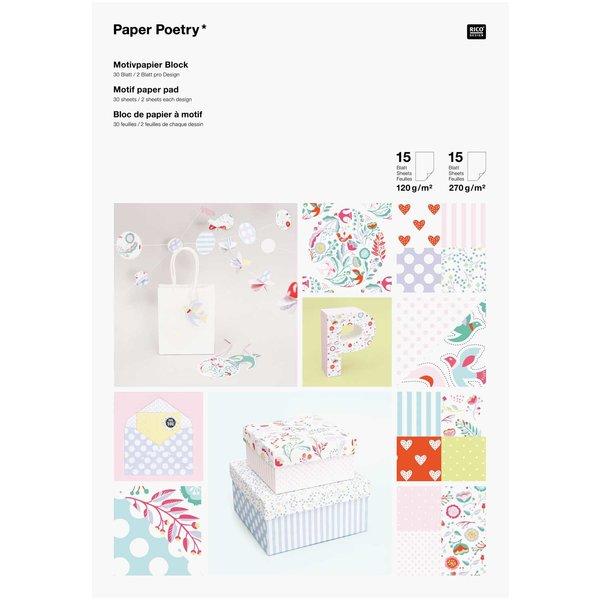 Paper Poetry Motivpapier Block 21x30cm 30 Blatt