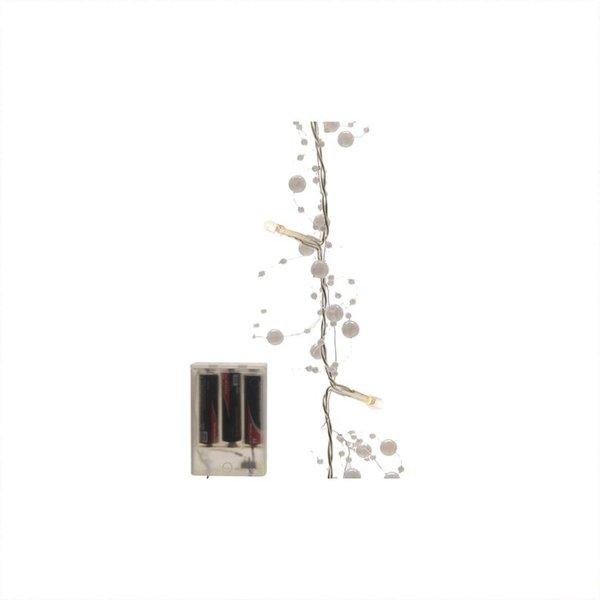 LED Perlen-Girlande batteriebetrieben warmweiß 120cm
