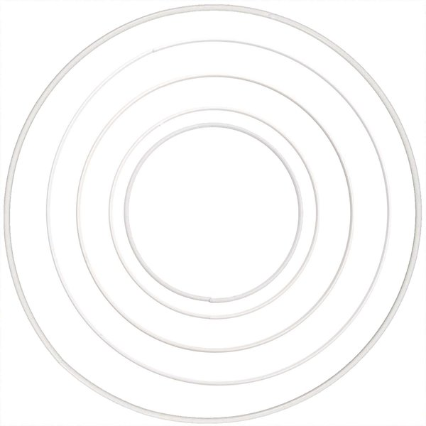 Rico Design Metallring weiß