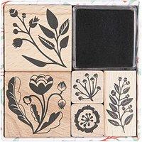 Paper Poetry Stempelset Romantic Flowers 5 Stück