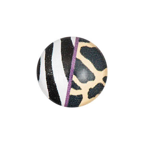 Jewellery Made by Me Cabochon Zebra-Leo Muster 12mm Glas
