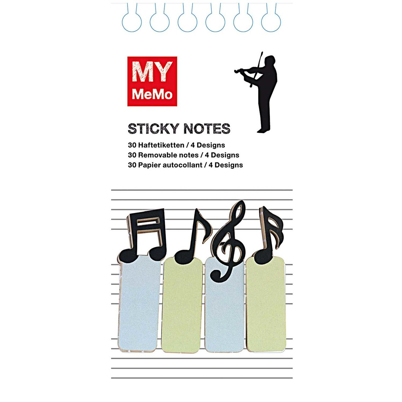 Rico Design Sticky Notes Musiker 120 Stück
