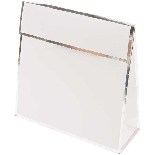 Paper Poetry Geschenktasche mit Klappe weiß 17x17x6cm