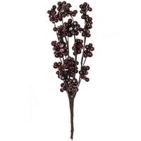Dekopick mit kleinen Beeren dunkelrot 17cm