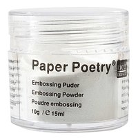 Paper Poetry Embossingpuder weiß matt 10g