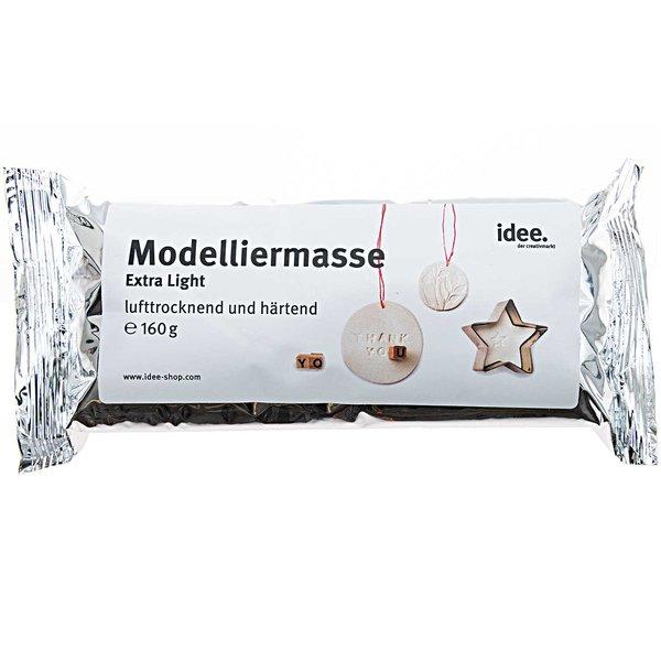 Modelliermasse extra leicht lufttrocknend weiß 160g