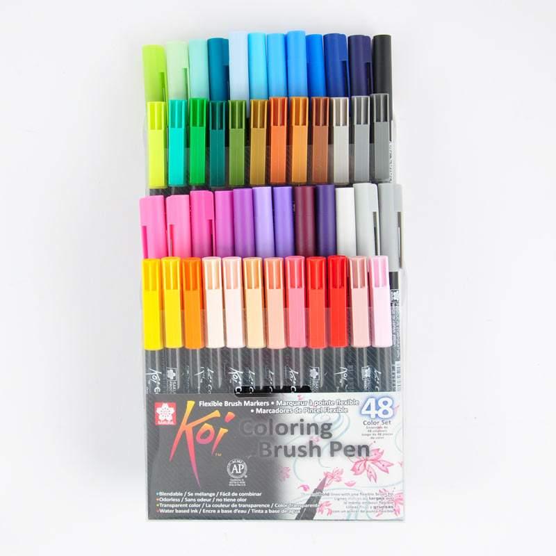 Koi Coloring Brush Pen 48teilig
