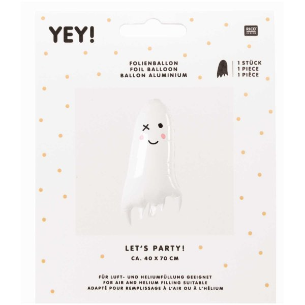 YEY! Let's Party Folienballon Gespenst 40x70cm