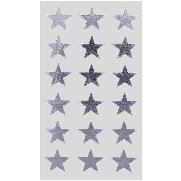 Paper Poetry Sticker Sterne silber 18mm 4 Bogen