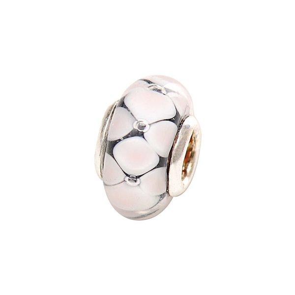 Rico Design Glasperle rosa-schwarz Ø=13mm