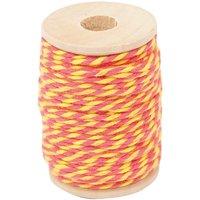 Paper Poetry Baumwollgarn gelb-pink 15m