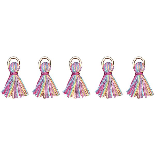 Jewellery Made by Me Anhänger Quasten Mix mehrfarbig 5 Stück