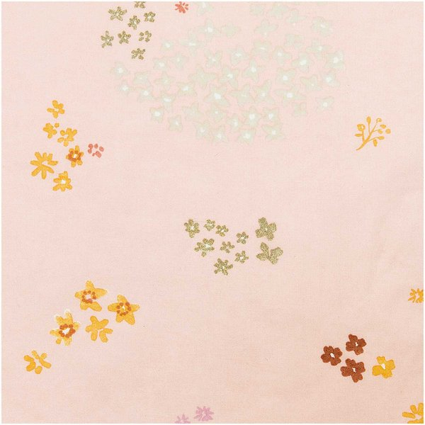 Rico Design Druckstoff Crafted Nature Blumen rosa-metallic 50x140cm beschichtet