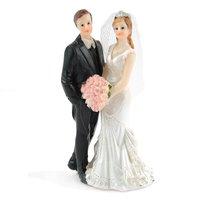 Brautpaar mit Blumenstrauß 10cm