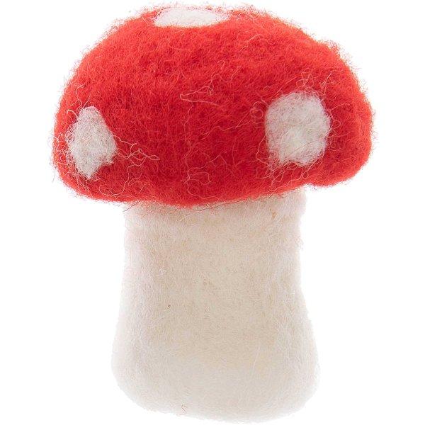 Pilz rot zum Stellen 7cm Filz