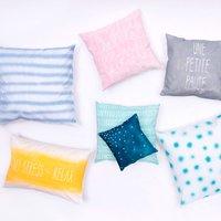 Anleitung Kissenbezüge gestalten mit Textilspray