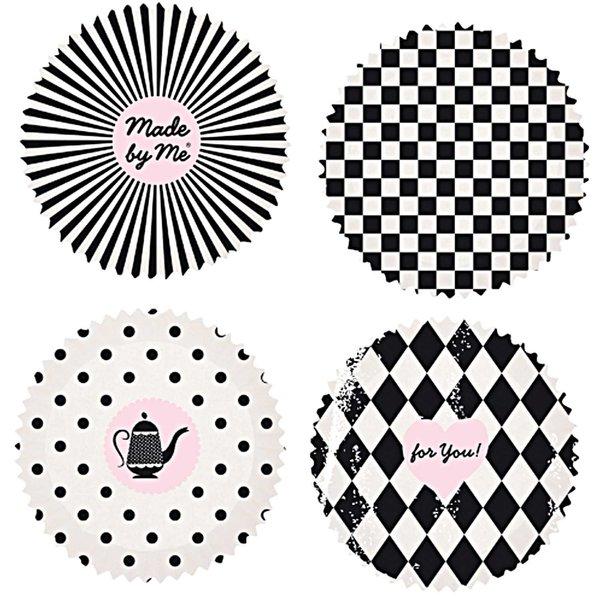Rico Design Backförmchen klein schwarz-weiß 3,5cm 100 Stück