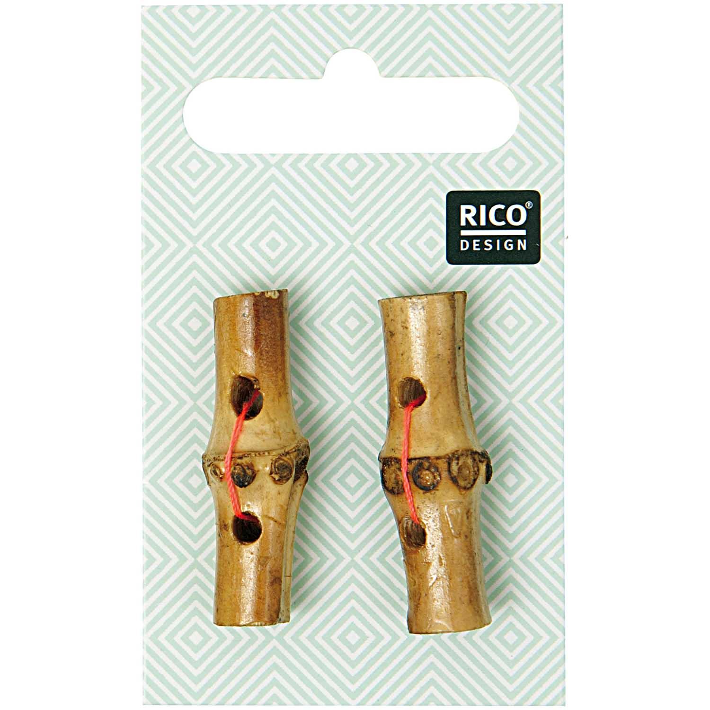Knebelknöpfe aus Bambus
