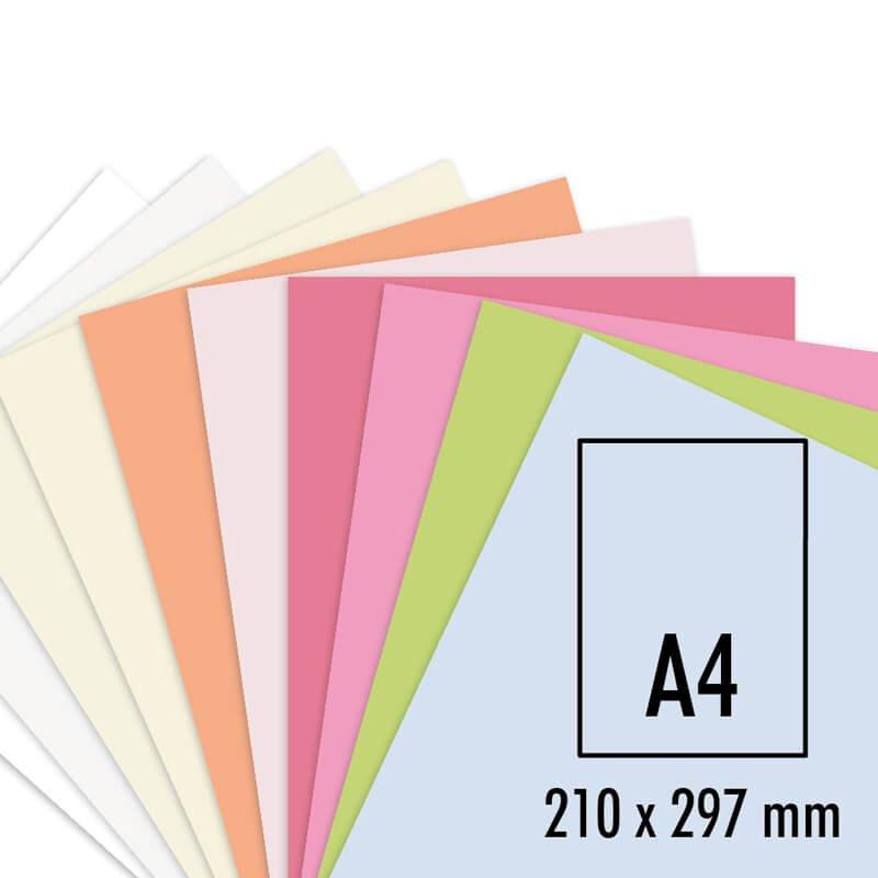 Artoz Karte Perga pastell A4 200g/m² 5 Stück