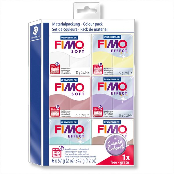 Staedtler FIMO soft Set Candy Colours 6 Blöcke je 57g