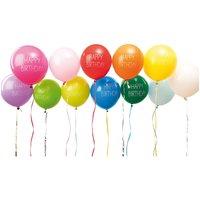 YEY! Let's Party Luftballons Happy Birthday 30cm 12 Stück
