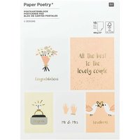 Paper Poetry Postkartenblock Hochzeit 15 Karten