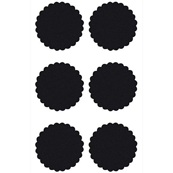 Paper Poetry Tafelfolien Sticker Kreise mit Wellen schwarz 6 Stück