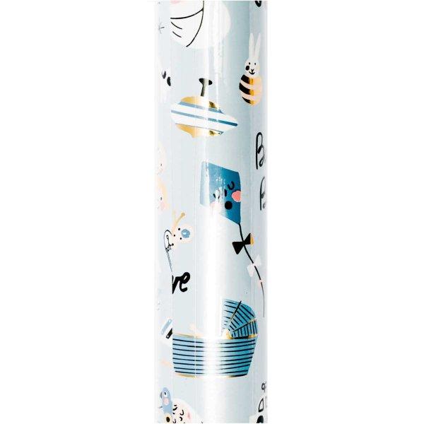 Paper Poetry Geschenkpapier Hello Baby Junge 70cm 2m Hot Foil