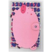 Rico Design Filzschwein mit Saugnapf und Filzsticker