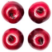 Apfel rot 5,5cm 4 Stück